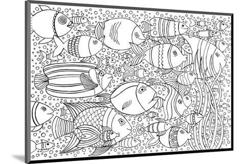 Tropical Fish Coloring Art--Mounted Coloring Poster