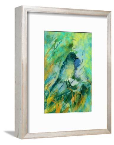 Sitting bird-Claire Westwood-Framed Art Print