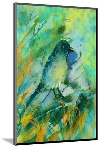 Sitting bird-Claire Westwood-Mounted Art Print