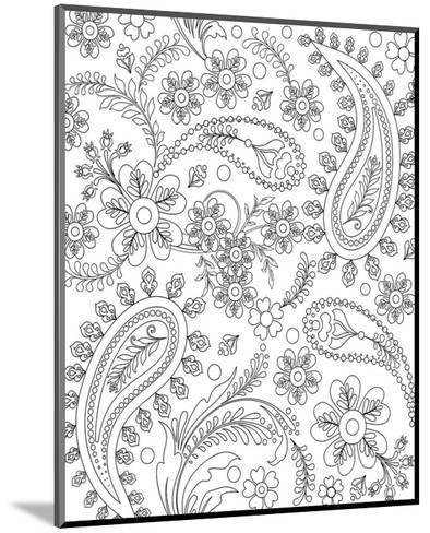 Teardrop Floral Design Coloring Art Coloring Poster by   Art.com