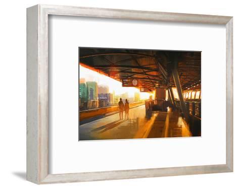 The Station Platform--Framed Art Print