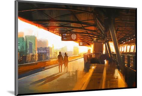 The Station Platform--Mounted Art Print