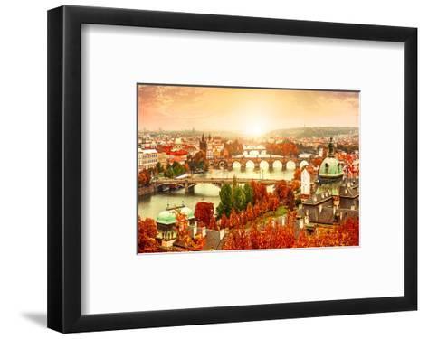 Vltava River in Prague?Czechia--Framed Art Print