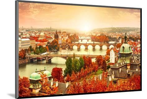 Vltava River in Prague?Czechia--Mounted Art Print