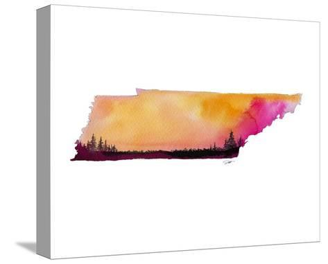 Tennessee State Watercolor-Jessica Durrant-Stretched Canvas Print