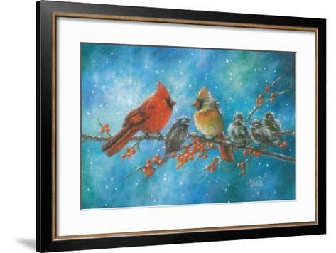 Cardinals Family-Vickie Wade-Framed Art Print