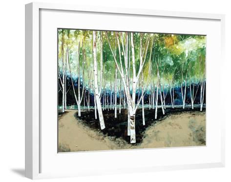 White Trees-Stuart Roy-Framed Art Print