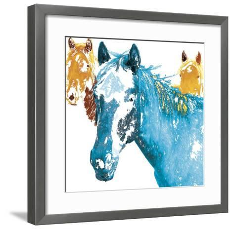 It's Cool To Be Blue-Marvin Pelkey-Framed Art Print