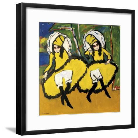 Two Dancers-Ernst Ludwig Kirchner-Framed Art Print