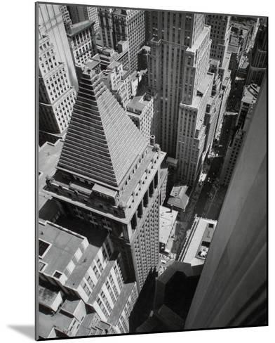 Wall Street, from the Roof of Irving Trust Co. Building, Manhattan-Berenice Abbott-Mounted Giclee Print
