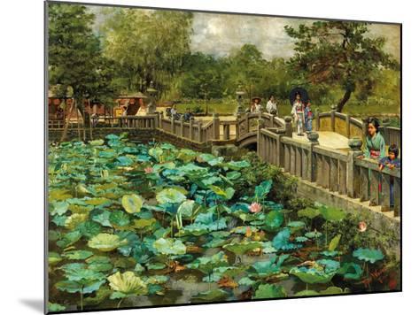 Lotus Pond, Shiba, Tokyo, c.1886-Theodore Wores-Mounted Premium Giclee Print