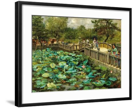 Lotus Pond, Shiba, Tokyo, c.1886-Theodore Wores-Framed Art Print
