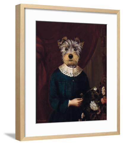 Enfant aux Fleurs-Thierry Poncelet-Framed Art Print