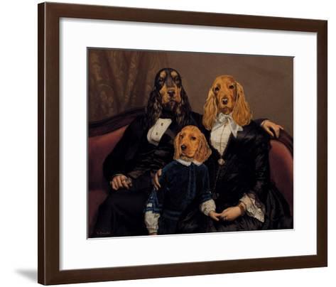 La Famille Content-Thierry Poncelet-Framed Art Print