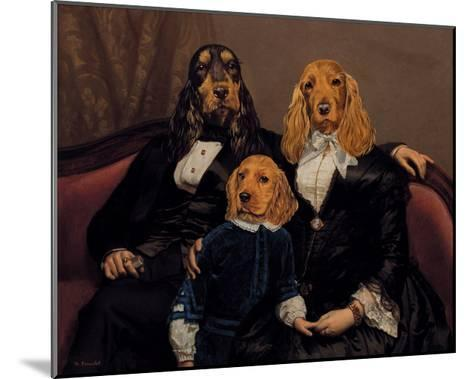 La Famille Content-Thierry Poncelet-Mounted Premium Giclee Print