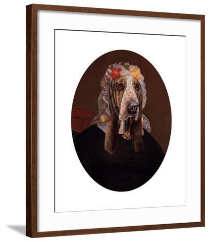 La Comtesse aux fleurs-Thierry Poncelet-Framed Art Print