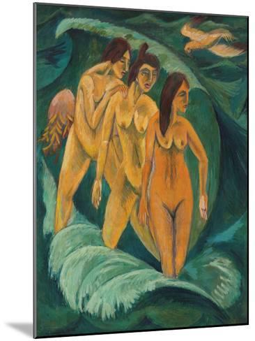 Three Bathers, 1913-Ernst Ludwig Kirchner-Mounted Premium Giclee Print