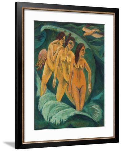 Three Bathers, 1913-Ernst Ludwig Kirchner-Framed Art Print