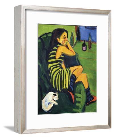 Artistin Marcella, 1910-Ernst Ludwig Kirchner-Framed Art Print