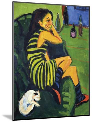 Artistin Marcella, 1910-Ernst Ludwig Kirchner-Mounted Premium Giclee Print