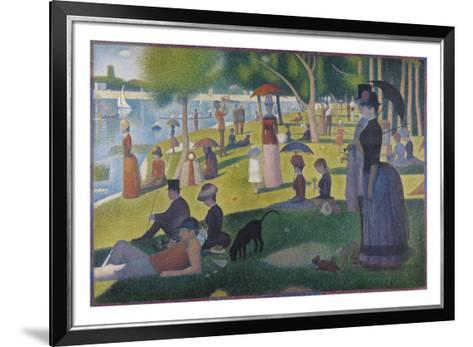 Sunday Afternoon on the Island of La Grande Jatte, 1884-1886-Georges Seurat-Framed Art Print