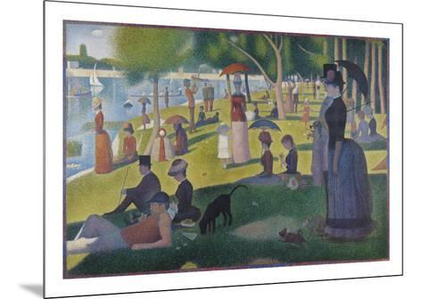 Sunday Afternoon on the Island of La Grande Jatte, 1884-1886-Georges Seurat-Mounted Limited Edition