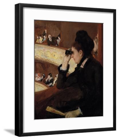 In the Loge, 1878-Mary Stevenson Cassatt-Framed Art Print