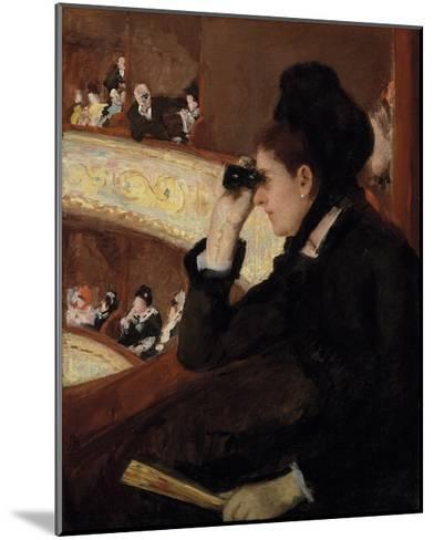 In the Loge, 1878-Mary Stevenson Cassatt-Mounted Premium Giclee Print