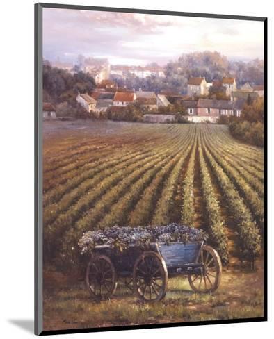 Grapes on Blue Wagon-Rosa Chavez-Mounted Art Print