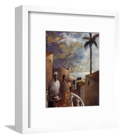 Caf en la tarde-Didier Lourenco-Framed Art Print
