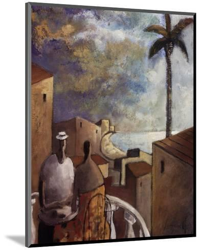 Caf en la tarde-Didier Lourenco-Mounted Art Print