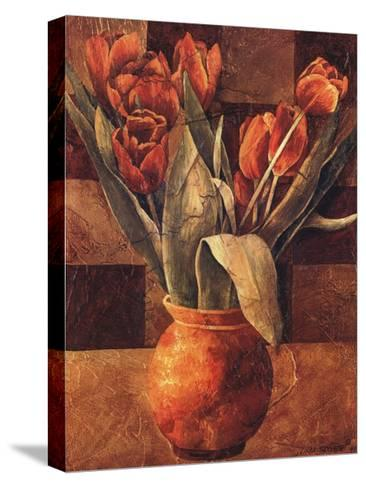 Checkered Tulips II-Linda Thompson-Stretched Canvas Print