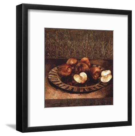 Apples on a Charger-Linda Thompson-Framed Art Print