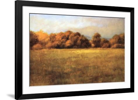 Field with Treeline-Robert Striffolino-Framed Art Print