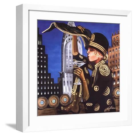 Martinis Over Manhattan-Jeff Williams-Framed Art Print