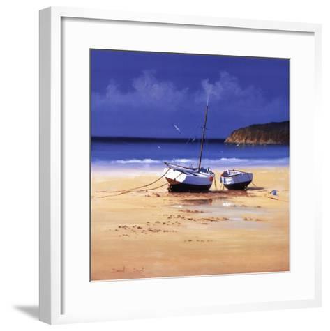 Moorings Low Tide-David Short-Framed Art Print