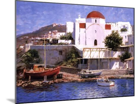 Mykonos I-George Bates-Mounted Art Print