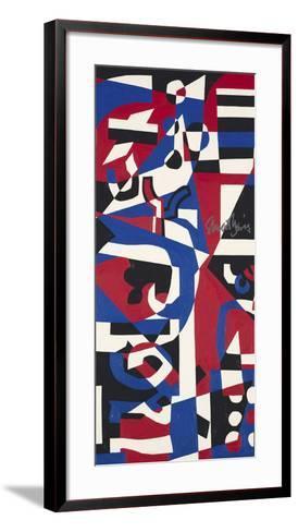 Composition Concrete (Study for Mural), 1957-1960-Stuart Davis-Framed Art Print