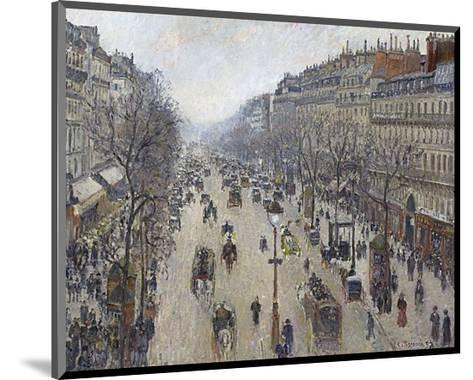 Boulevard Montmartre, Morning, Cloudy Weather, 1897-Camille Pissarro-Mounted Art Print