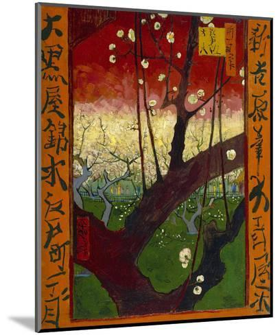 Flowering Plum Tree (after Hiroshige), 1887-Vincent van Gogh-Mounted Art Print
