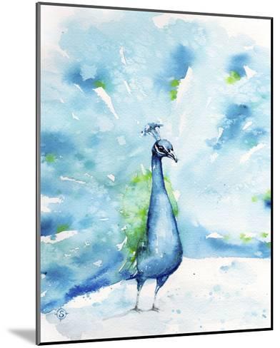 Peacocking Around-Sillier than Sally-Mounted Art Print