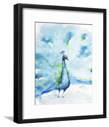 Peacocking Around-Sillier than Sally-Framed Art Print