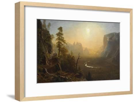 Yosemite Valley, Glacier Point Trail, ca. 1873-Albert Bierstadt-Framed Art Print