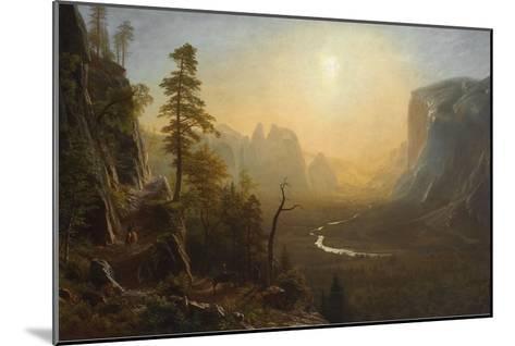 Yosemite Valley, Glacier Point Trail, ca. 1873-Albert Bierstadt-Mounted Art Print