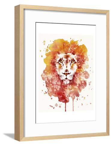 Pride (Watercolor Lion)-Sillier than Sally-Framed Art Print