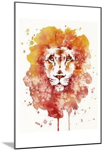 Pride (Watercolor Lion)-Sillier than Sally-Mounted Art Print