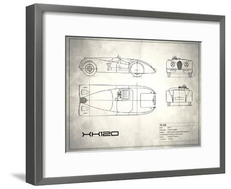 Jaguar XK-120 White-Mark Rogan-Framed Art Print