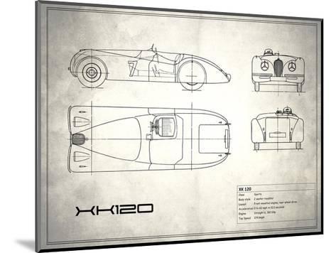 Jaguar XK-120 White-Mark Rogan-Mounted Giclee Print
