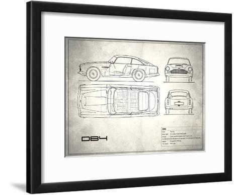 Aston DB4 White-Mark Rogan-Framed Art Print