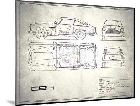 Aston DB4 White-Mark Rogan-Mounted Giclee Print